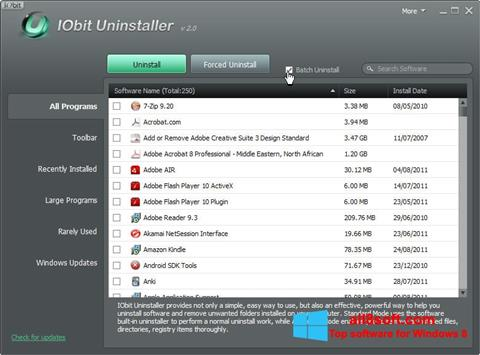Screenshot IObit Uninstaller Windows 8