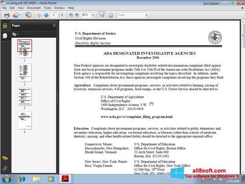 Screenshot Adobe Reader Windows 8