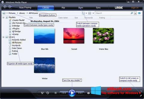 Screenshot Media Player Windows 8