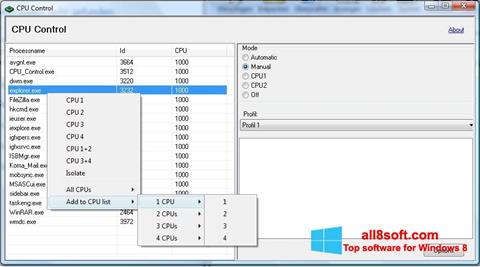 Screenshot CPU-Control Windows 8
