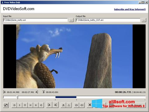 Screenshot Free Video Dub Windows 8