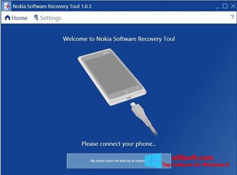 Screenshot Nokia Software Recovery Tool Windows 8