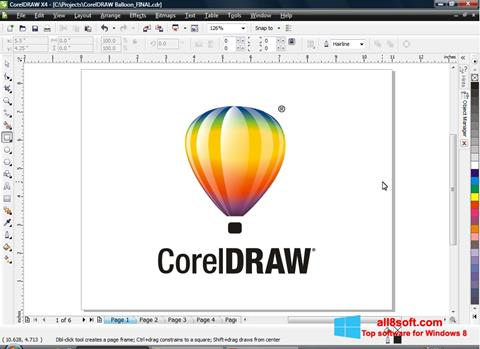 Screenshot CorelDRAW Windows 8
