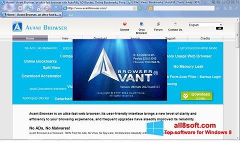 Screenshot Avant Browser Windows 8