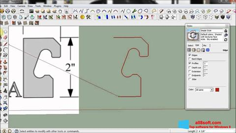 Screenshot SketchUp Windows 8