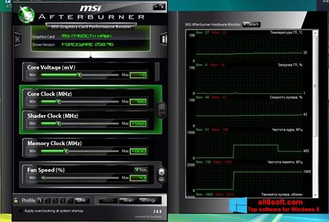 Screenshot MSI Afterburner Windows 8