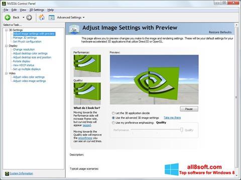Screenshot NVIDIA ForceWare Windows 8